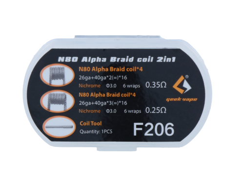 Ni80 Alpha Braid Coil - 2 in 1 Set - Geekvape (F206)