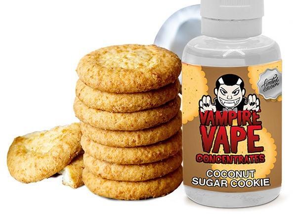 Coconut Sugar Cookie - Aroma - Vampire Vape - 30 ml (Keks, Zuckerglasur, Kokos)